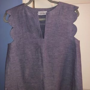 Paris Atelier scalloped sleeveless top. Size small